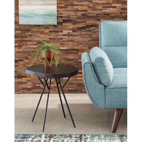 Rustic Black Tree Trunk -inspired Accent Table