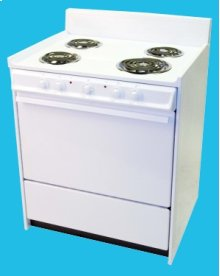 "30"" Electric Range Mono-Chromatic White"