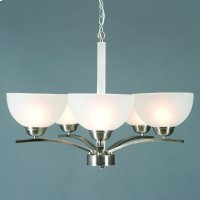 Alta Peak Collection Five Light Chandelier in Sa Product Image