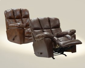 Chaise Rocker Recliner - Tobacco