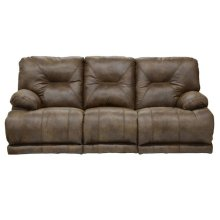 "Power ""Lay Flat"" Recl Sofa w/3x DDT - Brandy"