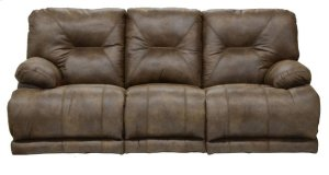 "Power ""Lay Flat"" Recl Sofa - Brandy"