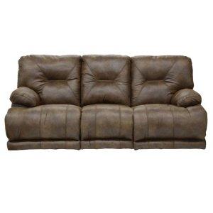 "Power ""Lay Flat"" Recl Sofa w/3x DDT - Brandy"