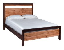 Heartwood Queen Bed with low footboard