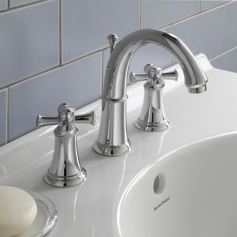 In Polished Chrome By American Standard In Painesville - 8 inch spread bathroom faucet