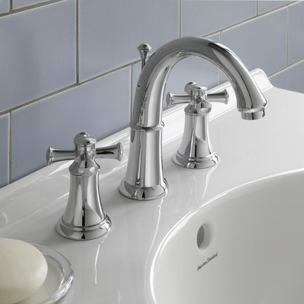 Attirant Portsmouth 2 Handle 8 Inch Widespread High Arc Bathroom Faucet With Cross  Handles American