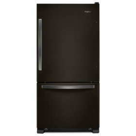 Whirlpool® 33-inch wide Bottom-Freezer Refrigerator - 22 cu. ft. - Print Resist Blk Stnlss