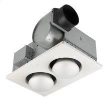 Two-Bulb Heater/Fan, 500W Bulbs, 70 CFM; Ventilation Fans