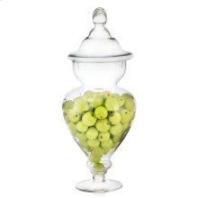 Green Apples In Tall Glass Apothecary Jar