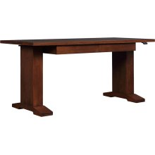 Oak Hi-lo Standing Desk, No Inlay