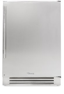 24 Inch Stainless Solid Door Undercounter Freezer - Left Hinge Stainless Solid