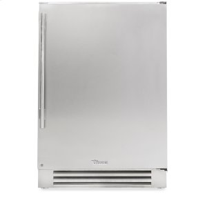 True Residential24 Inch Stainless Solid Door Undercounter Freezer - Left Hinge Stainless Solid