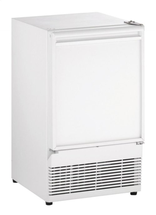 """Ada Series 15"""" Crescent Ice Maker With White Solid Finish and Field Reversible Door Swing"""