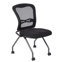 Deluxe Armless Folding Chair With Progrid® Back