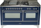 Midnight Blue with Chrome trim - Majestic 60-inch Range with Griddle Product Image
