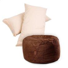 Pillow Pod Footstools - Chenille - Espresso