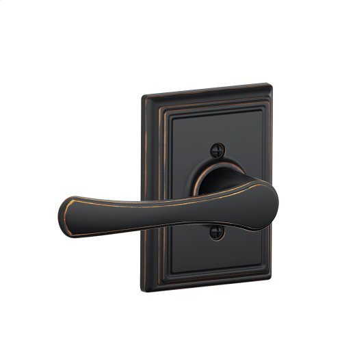 Avila Lever with Addison trim Non-turning Lock - Aged Bronze