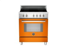30 4-Induction Zones, Electric Self-Clean oven Orange
