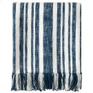 Denim Stripe Throw, NAVY, THRW Product Image