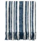 Denim Stripe Throw, NAVY, THRW Product Image