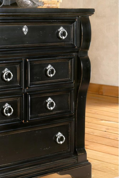 Heirloom Black 5 Drawer Chest