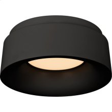 Visual Comfort BBL4090BLK Barbara Barry Halo LED 6 inch Matte Black Flush Mount Ceiling Light, Petite