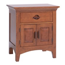 Great Lakes 1-Drawer, 2-Door Nightstand