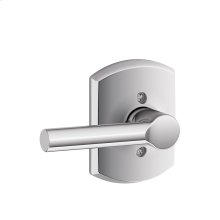 Broadway Lever with Greenwich trim Non-turning Lock - Bright Chrome