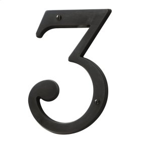 Oil-Rubbed Bronze House Number - 3