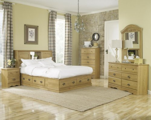 HB28 Sleigh Storage Bed - 6 Drawer - Queen