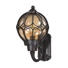 Madagascar 1-Light Outdoor Wall Lamp in Matte Black