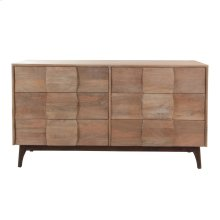 Hugo 6 Drawer Dresser Natural