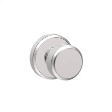 Bowery Knob with Greyson trim Hall & Closet Lock - Bright Chrome