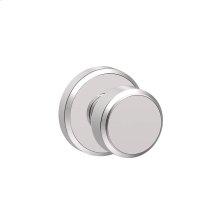 Bowery Knob with Greyson trim Hall & Closet Lock - Bright Chrome