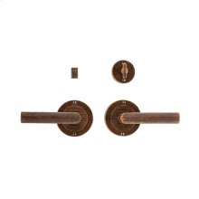 "Flute Privacy Set - 3 1/2"" Silicon Bronze Brushed"