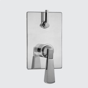 E-Mini Thermostatic - Integrated Rectangle Plate - Trim only with Harlow handle