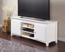 Nantucket 60 inch Entertainment Console with Adjustable Shelves in White
