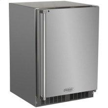 """24"""" Outdoor Refrigerator Freezer  Marvel Premium Refrigeration - 24"""" Outdoor Refrigerator/Freezer with Solid Stainless Steel Door with Lock - Right Hinge"""
