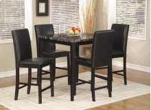 Palms 5 Pc. Pub Set Black
