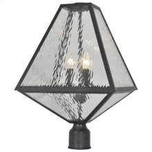 Brian Patrick Flynn for Crystorama Glacier 3 Light Black Charcoal Large Post