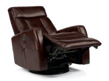 Galen Leather King Power Swivel Gliding Recliner
