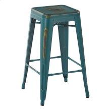 "Bristow 26"" Antique Metal Barstool, Antique Tourquoise, 2 Pack"