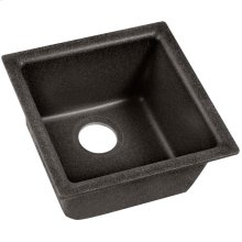 "Elkay Quartz Classic 15-3/4"" x 15-3/4"" x 7-11/16"", Single Bowl Dual Mount Bar Sink, Black Shale"