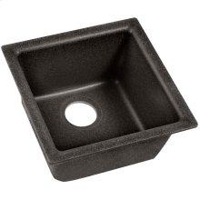 "Elkay Quartz Classic 15-3/4"" x 15-3/4"" x 7-11/16"", Single Bowl Dual Mount Bar Sink, Black Shale"