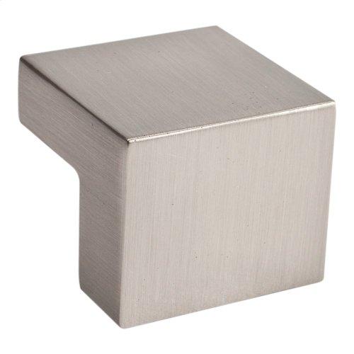 Small Square Knob 5/8 Inch (c-c) - Brushed Nickel