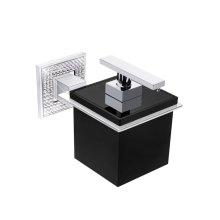 "Diamond Wall Soap Dispenser W 4 1/8""x D 4 1/8""x H 3 5/6""chrome / black"