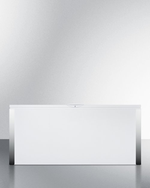 Commercially Listed 23.8 CU.FT. Frost-free Chest Freezer In White With Digital Thermostat for General Purpose Use; Replaces Scff220