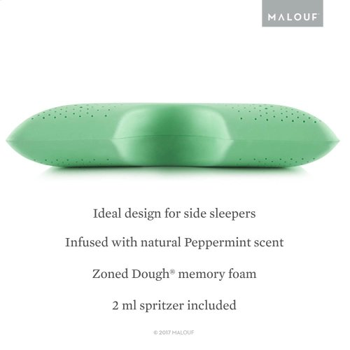 Shoulder Cutout Pillow + Peppermint, Queen