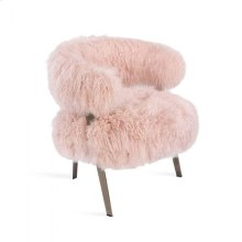 Adele Lounge Chair - Blush Sheepskin