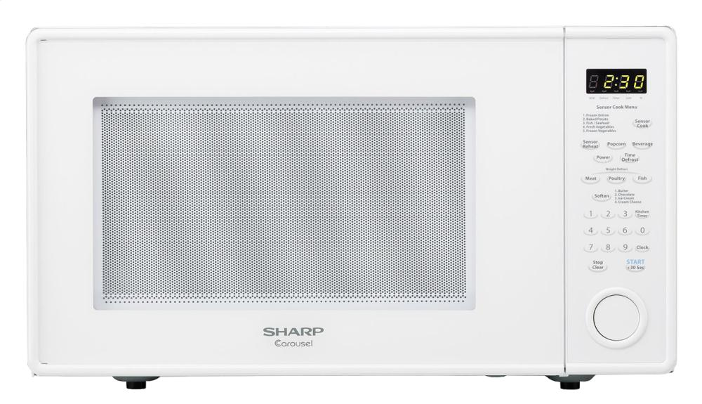 Sharp 1 8 Cu Ft 1100w White Carousel Countertop Microwave Oven